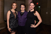 Figure Skaters Sarah Hughes and Emily Hughes and Billie Jean King attend the Women's Sports Foundation's 35th Annual Salute to Women In Sports awards...