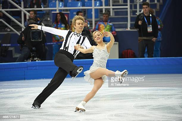 2014 Winter Olympics Great Britain Penny Coomes and Nicholas Buckland in action during Team Ice Dance Short Dance at Iceberg Skating Palace Sochi...