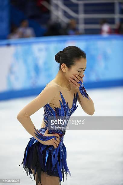 2014 Winter Olympics Japan Mao Asada reacts after her Women's Free Skating Program routine at Iceberg Skating Palace Sochi Russia 2/20/2014 CREDIT Al...