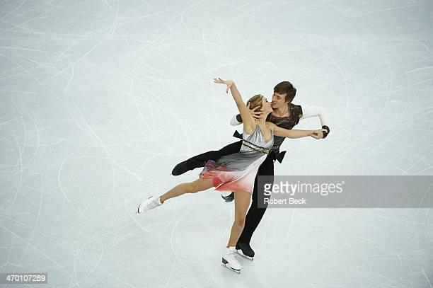 2014 Winter Olympics Russia Victoria Sinitsina and Ruslan Zhiganshin in action during Ice Dance Free Dance at Iceberg Skating Palace Sochi Russia...