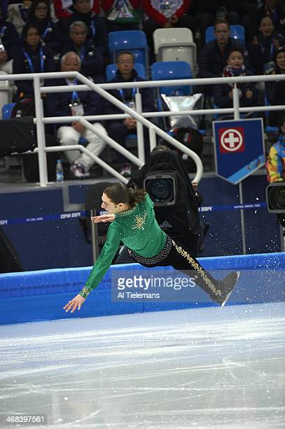 2014 Winter Olympics USA Jason Brown in action during Men's Free Skating program at Iceberg Skating Palace Sochi Russia 2/9/2014 CREDIT Al Tielemans