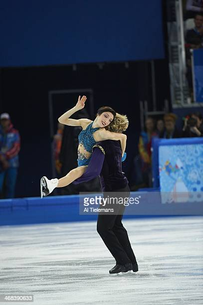 2014 Winter Olympics USA Meryl Davis and Charlie White in action during Team Ice Dance Free Dance at Iceberg Skating Palace Sochi Russia 2/9/2014...