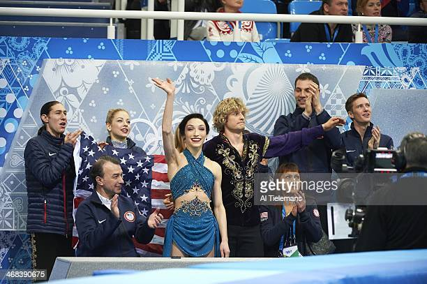 2014 Winter Olympics USA Meryl Davis and Charlie White in pen during Team Ice Dance Free Dance at Iceberg Skating Palace Sochi Russia 2/9/2014 CREDIT...