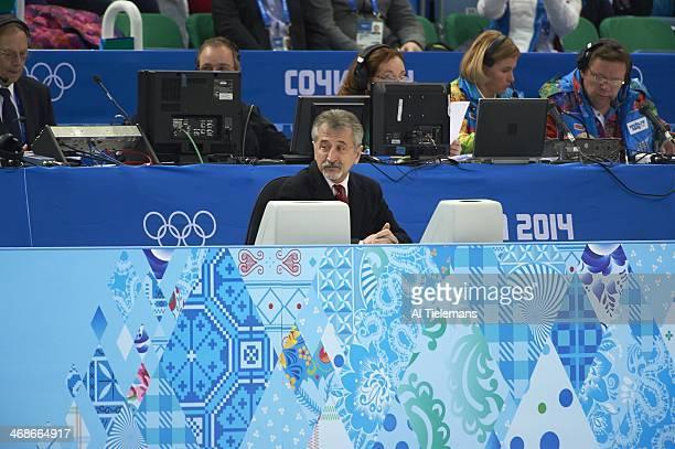 2014 Winter Olympics View of male judge during Men's Free Skating program at Iceberg Skating Palace Sochi Russia 2/9/2014 CREDIT Al Tielemans