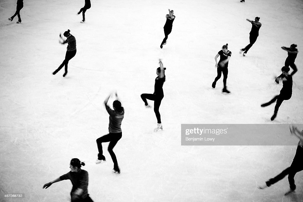 Figure skating rehearsals on day three of the Sochi 2014 Winter Olympics at Iceberg Skating Palace on February 10 2014 in Sochi Russia