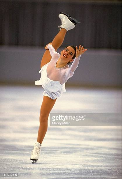 US Championships Nancy Kerrigan in action during competition at Orlando Arena Orlando FL 1/8/19921/11/1992 CREDIT Manny Millan
