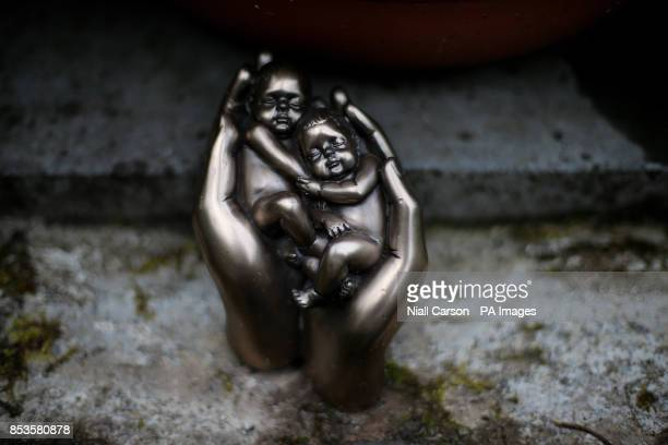 A figurine in the infants graveyard at Sean Ross Abbey in Roscrea Tipperary which was mother and baby home operated by the Sisters of the Sacred...
