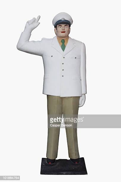 Figurine of an officer in uniform