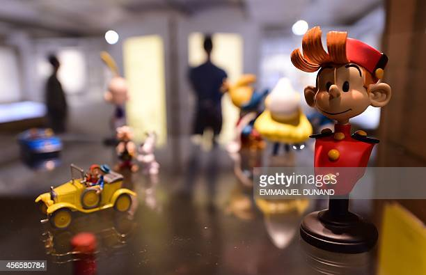 A figurine of cartoon character 'Spirou' is seen in the 'Centre Belge de la Bande Dessinee' on October 3 2014 in Brussels as it marks its 25th...