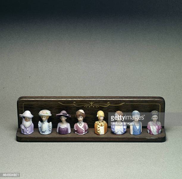 Figurines depicting lady golfers early 20th century