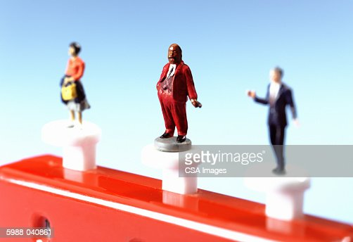 Figurines on Cash Counter : Stock Photo