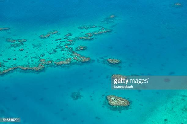 Fiji, Aerial view of reef