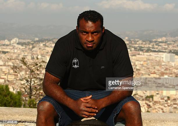 Fiji vicecaptain Kele Leawere poses for a photo at the Basilique NotreDame de la Garde on October 4 2007 in Marseille France