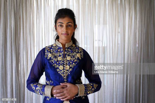 Fijian Indian Vineesha Veer wears traditional dress at her home on January 27 2017 in Tamworth Australia Tamworth is a large regional city in the New...