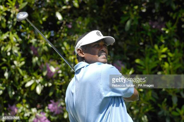 Fiji's Vijay Singh in action during the BMW Championship ProAm at Wentworth Golf Club Virginia Water Surrey