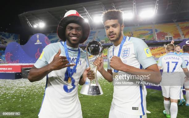 Fikayo Tomori and Jake ClarkeSalter celebrate with the trophy after the FIFA U20 World Cup Korea Republic 2017 Final match between Venezuela and...