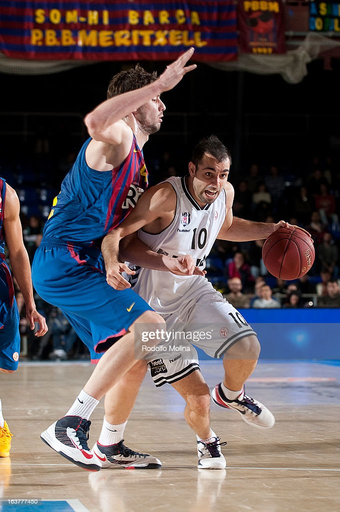 Fikret Can Akin, #10 of Besiktas JK Istanbul in action during the 2012-2013 Turkish Airlines Euroleague Top 16 Date 11 between FC Barcelona Regal v Besiktas JK Istanbul at Palau Blaugrana on March 15, 2013 in Barcelona, Spain.