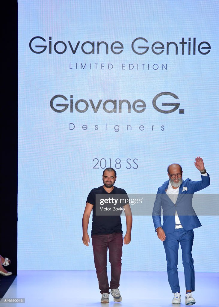 Fikri Temel and Tulug Ozgur are applauded on the runway at the Giovane Gentile show during Mercedes-Benz Istanbul Fashion Week September 2017 at Zorlu Center on September 13, 2017 in Istanbul, Turkey.