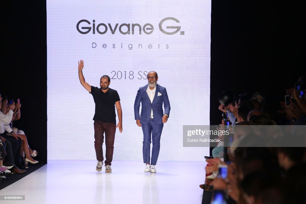 Fikri Temel and Tulug Ozgur walk the runway at the Giovane Gentile show during Mercedes-Benz Istanbul Fashion Week September 2017 at Zorlu Center on September 13, 2017 in Istanbul, Turkey.