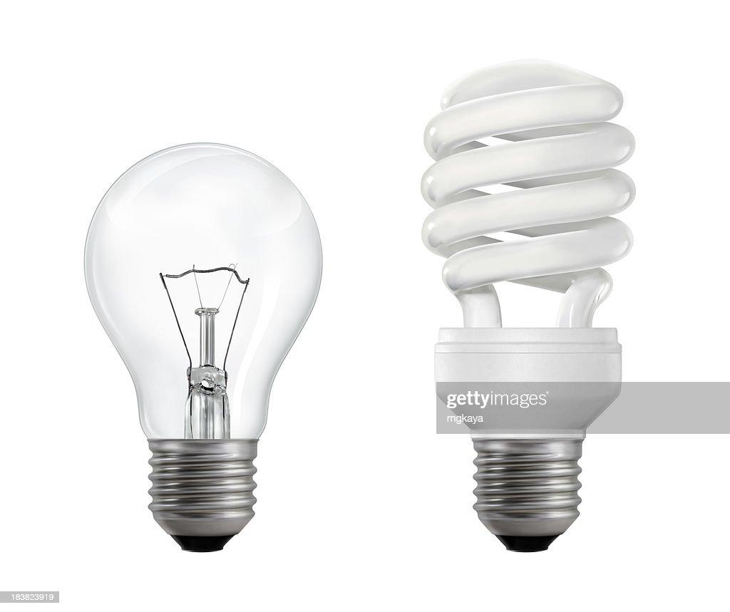 Filament and Fluorescent Lightbulbs