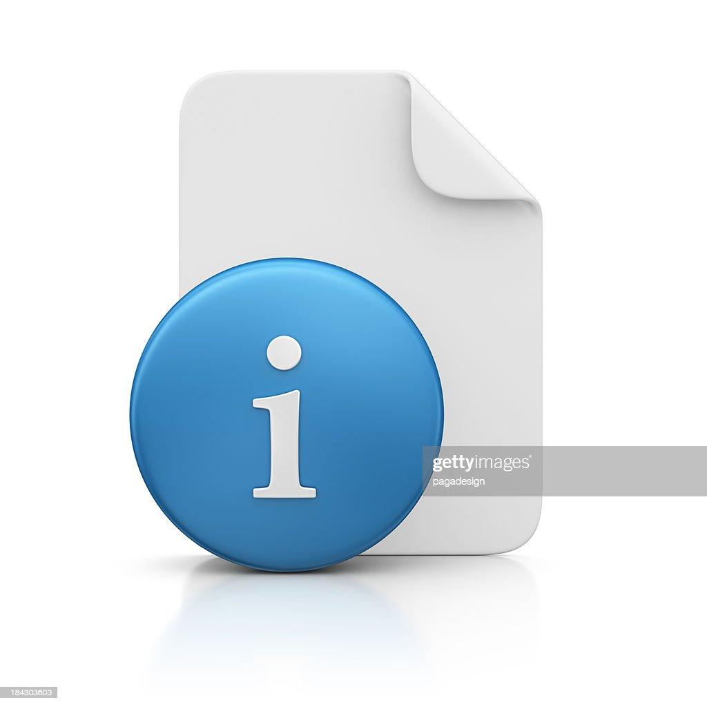 file and info sign : Stock Photo