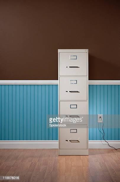 Aktenschrank In leere Wohnraum