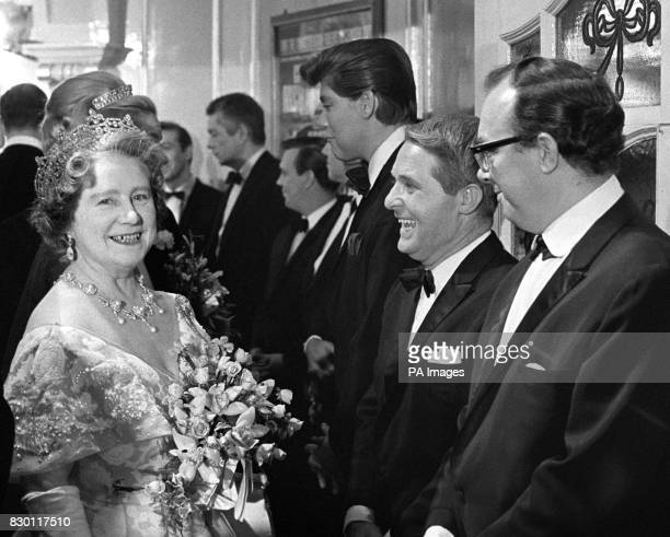 File dated 151166 of the Queen Mother meeting Comedy duo Eric Morecambe and Ernie Wise following the Royal Variety Show Ernie Wise one of Britain's...