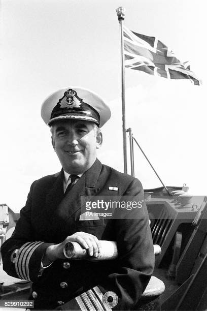 File dated 20882 of Captain Nicholas Barker who was commander of HMS Endurance when it played a vital part in the 1982 South Atlantic conflict in the...
