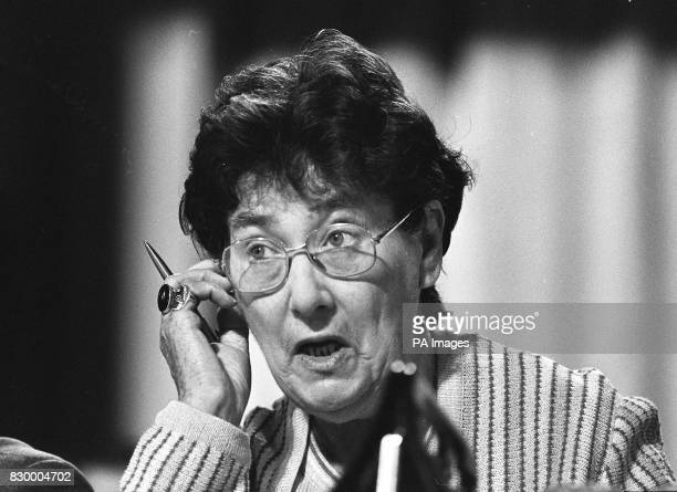 File dated 28982 of former Labour MP Joan Maynard who has died at her home in Sowerby north Yorkshire after a long illness She was 76 See PA Story...
