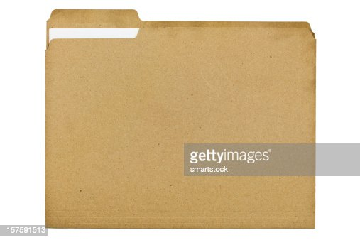 Archivo de carpeta fabricada de 100 por ciento de reciclado de fibra con documento