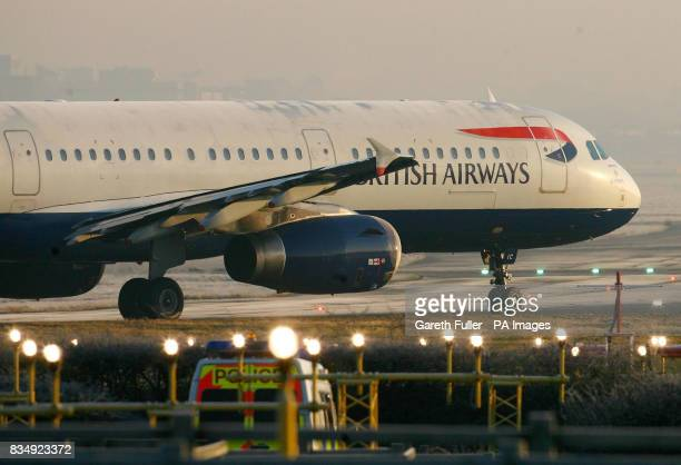 File image dated A British Airways passenger jet prepares for an early morning take off at Gatwick Airport in West Sussex