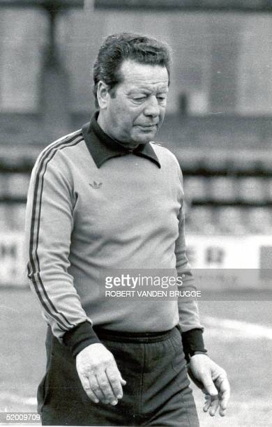 File photo dated 04 June 1980 shows former federal soccer coach Guy Thys Guy Thys died 01 August 2003 at the age of 80 AFP PHOTO BELGA/ROBERT VANDEN...