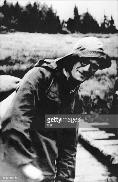 A file photo dated 1953 of Jean Paul II in the Bieszczady mountains in Poland