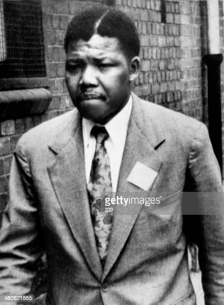 A file photo dated 1961 of South African antiapartheid leader and African National Congress member Nelson Mandela