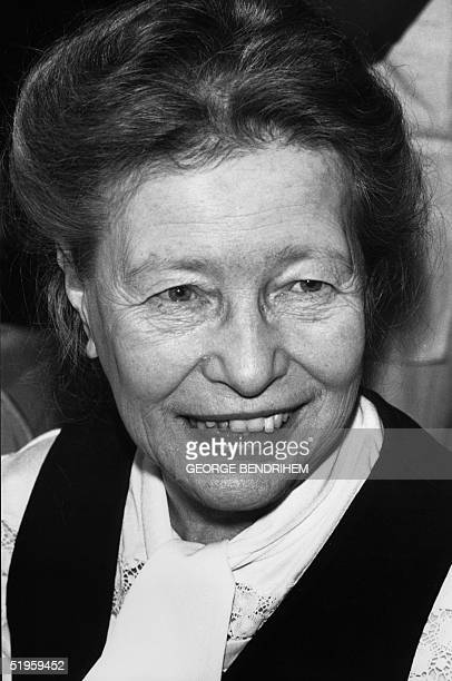 A file photo dated 21 June 1977 in Paris of French intellectual and writer Simone de Beauvoir AFP PHOTO GEORGES BENDRIHEM