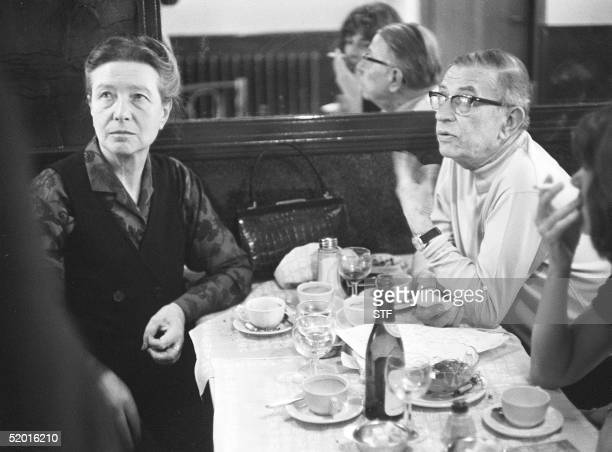A file photo dated 27 May 1970 of French intellectuals Simone de Beauvoir and JeanPaul Sartre sitting in a cafe in Paris