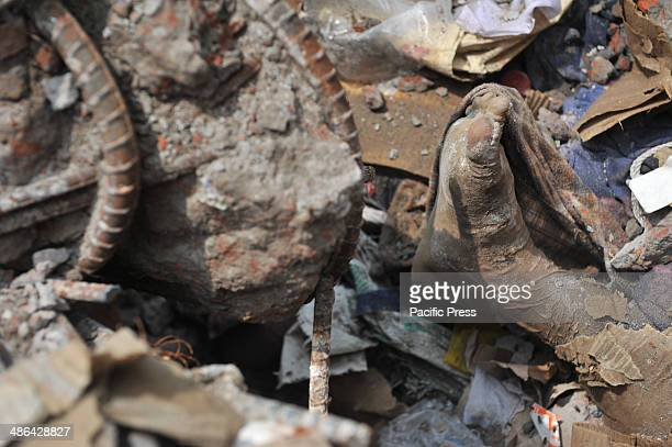 File photo dated April 28 where Rana Plaza an eightstory commercial building collapsed in Savar a subdistrict in the Greater Dhaka Area the capital...