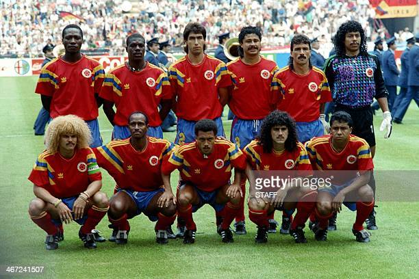 File photo dated June 19 1990 of Colombian soccer team before their World Cup match against Germany in Milan Italy