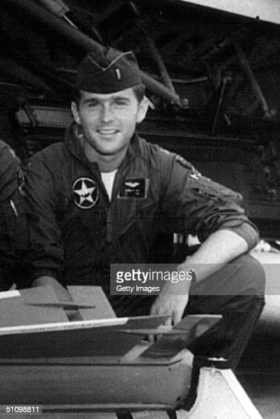 George W Bush During His Service Days In The Texas Air National Guard Circa 1970