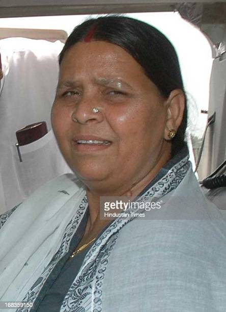 File photo of Bihar former CM and RJD chief Lalu Yadav's wife Rabri Devi during election campaign on October 22 2010 in Patna India