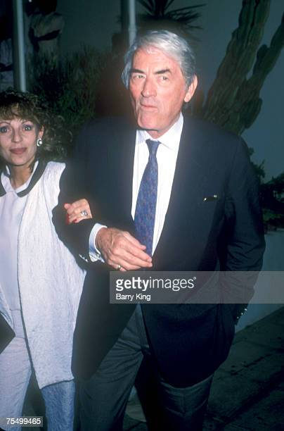 1987 file photo of Gregory Peck wife Veronique at Spago at the Various Locations in West Hollywood California