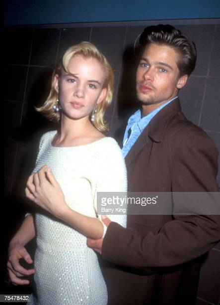 File Photo of Juliette Lewis Brad Pitt at the premiere of 'Thelma Louise' in Los Angeles on May 10 1991 in Los Angeles California