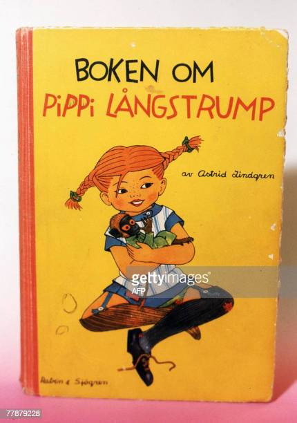 A file photo taken in 1998 shows the book cover of 'Pippi Longstocking' published 1946 by Swedish author Astrid Lindgren who would have been 100 14...