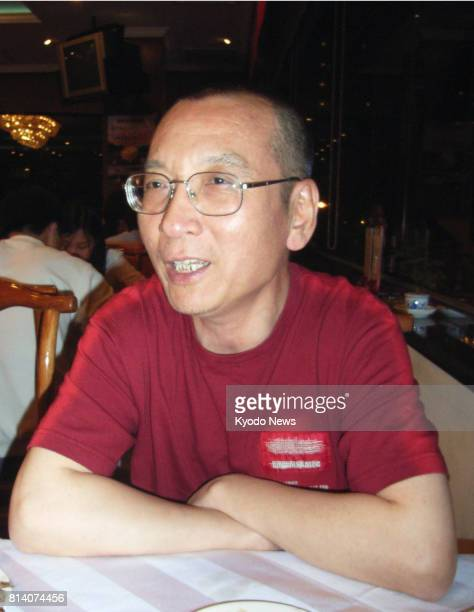 File photo taken in 2005 shows Chinese dissident Liu Xiaobo giving an interview Liu who was detained and imprisoned numerous times for his advocacy...