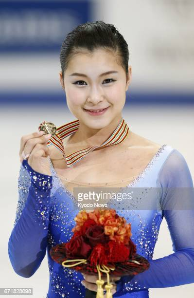 File photo taken in January 2014 shows Japanese figure skater Kanako Murakami after she won the Four Continents championships in Taipei ==Kyodo
