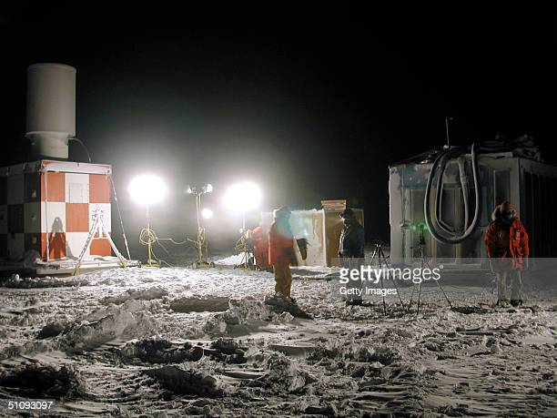 File Photo The Landing Area Is Prepared At The National Science Foundation's AmundsenScott South Pole Station April 11 To Receive A Small Propeller...