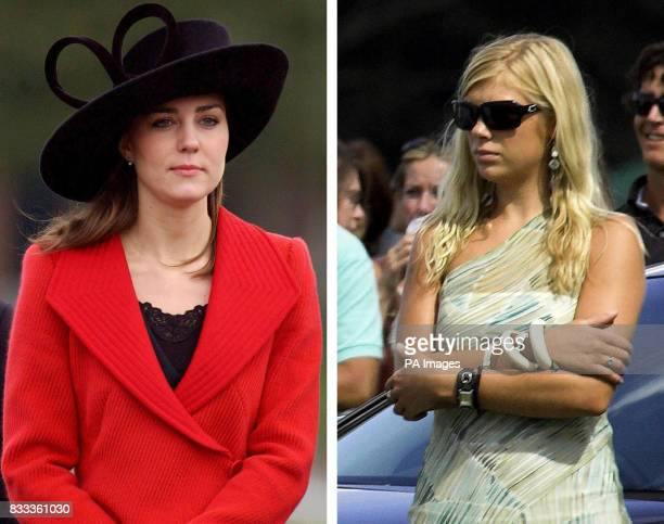 File photos of Prince William's girlfriend Kate Middleton and Prince Harry's girlfriend Chelsy Davy who is the summer's sexiest celebrity according...