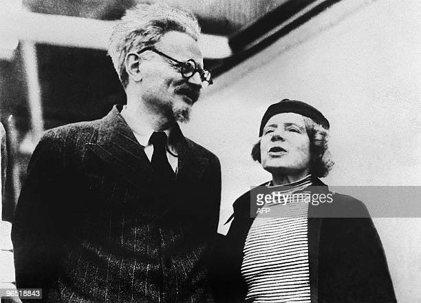 File picture dated 1937 of Leon Trotsky and his wife Natalia Sedova in Mexico Exiled Soviet Jewish communist revolutionary leader Leon Trotsky...