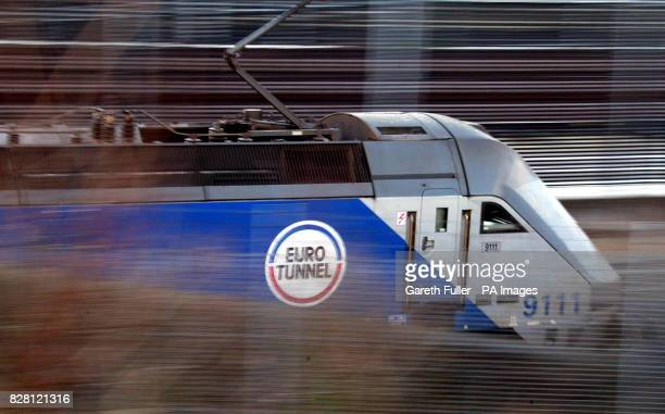 A File picture dated 25th January 2005 of a Euro Tunnel traindeparting for France Efforts by Eurotunnel to take on lowcost airlines and overhaul the...