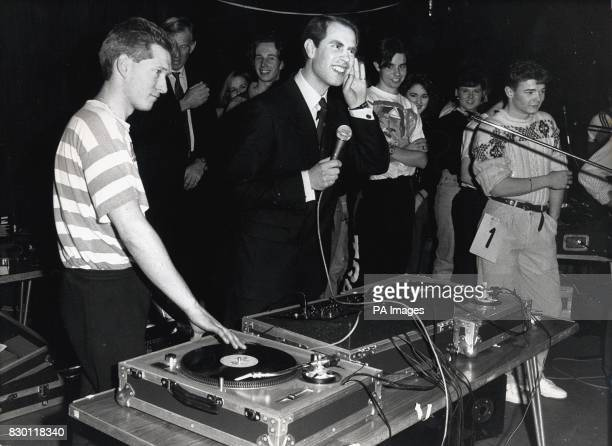 File picture dated 5/3/1989 of Prince Edward plays disc jockey at a 24 hour sponsored disco dance in London See PA Story ROYAL Engagement PA Picture